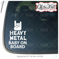 "Baby on Board ""Heavy Metal Baby on Board"" Sign Vinyl Decal Sticker"