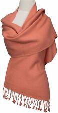 Pashmina  Schal scarf 100% Cashmere Kaschmir écharpe foulard Nepal Lachs