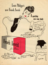 1947 vintage cosmetics AD Louis Philippe's  FRENCH ACCENT New Wine Shade 082217