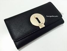 GUESS Augustina Slim Clutch Wallet Black Brand New With Box