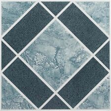 Vinyl Floor Tiles Self Adhesive Peel And Stick Blue Best Bathroom Flooring 12x12