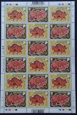 Singapore sheetlet Year of the OX 1997 with counting / handling marks