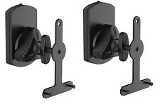 2 x Adjustable Tilt and Swivel Speaker Mount Wall Bracket for Sonos Play 1 & 3