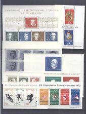 Bund / BRD Postfrische Block Sammlung ab Beethoven Block bis Block 53. 52 Stück.