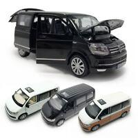 VW T6 Multivan MPV 1:32 Model Car Diecast Gift Toy Vehicle Kids Sound & Light