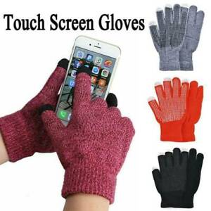 Mens Womens Winter Warm Knitted Gloves Windproof Thermal Touch Screen Mittens US
