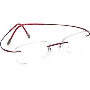 Silhouette Eyeglasses 7799 40 6056 Titan Burgundy Rimless Austria 47[]19 140