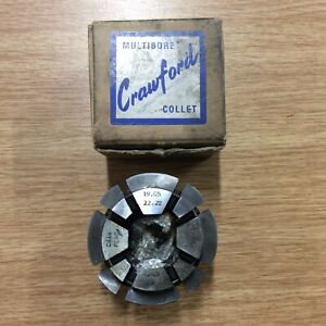 """Crawford MULTIBORE C92 collet For Square Bar 3/4""""-7/8"""" 19.05-22.22mm"""