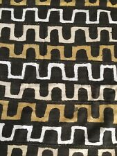 Vintage African Mud Cloth Ethnic Fabric Textile Panel Brown Black Tribal 57x80�