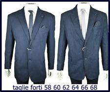blazer giacca abito uomo invernale blu elegante taglie forti 58 60 62 64 66 68