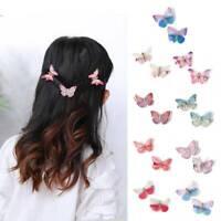 2pcs Fashion Women Girls Colour Butterfly Barrette Hair Clip Hairpin Accessories