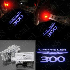 New 2x White Logo Car LED Door Light Laser Projector HD For Chrysler 300 2005-19