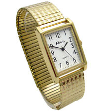 Mens Ravel Super-Clear Square Quartz Watch with Expanding Bracelet 49 R0220.01.1