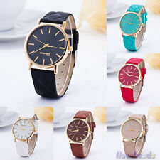 Fashion Womens Classic Watches Leather Roman Watches Analog Wristwatch
