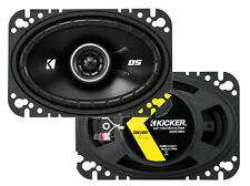 2) Kicker 43DSC4604 D-Series 4x6 Inch 240 Watt 4-Ohm 2-Way Car Coaxial Speakers