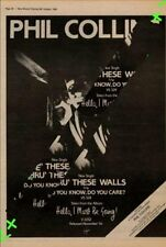 Phil Collins Genesis Thru' These Walls Advert NME Cutting 1982
