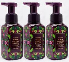 3 Bath & Body Works BLACKBERRIES & BASIL Gentle Foaming Hand Soap