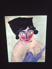 "Lyonel  Feininger ""Woman's Head W/ Green Eyes""35mm Glass Expressionism Art Slide"