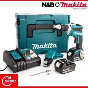 Makita DFS452FJX2 18V LXT Brushless Autofeed Screwdriver Kit