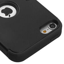 Hybrid Hard & Soft Rubber High Impact Armor Case For iPod Touch 5th Gen - Black