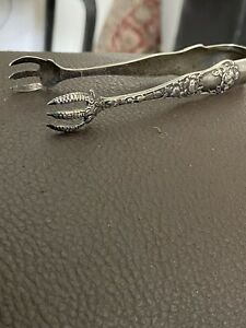 Antique Sterling Silver Sugar Cube Tongs 1897