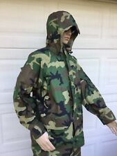 ECWCS Parka WOODLAND Camo Cold Weather GORE TEX GTX Rain Jacket Large L
