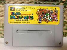 SUPER MARIO WORLD Japan Nintendo Super Famicom SFC SNES Very Good Condition!