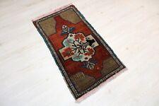 """Sivas Carpet Doormat, 21.7""""x39.4"""", Turkish Doormat, Handmade Vintage Doormat"""