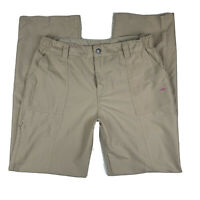Pacific Trail Women Large Outdoor Activewear Pants Straight Leg Pockets Beige
