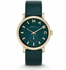 Ladies Marc by Marc Jacobs Watch.Baker Green Dial Green Leather Band.MBM1268