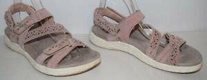 Earth Origins Westfield Wendy Sport Sandals Blush Suede Women's Size 6.5 W EUC
