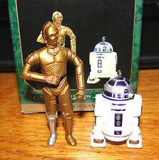 1997 HALLMARK MINIATURE C-3PO AND R2-D2  STAR WARS  SET OF 2  NEW IN BOX  L@@K