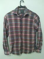 M.J. Bale Mens Long Sleeve Shirt Size 39 Red Check Button Up Casual EUC