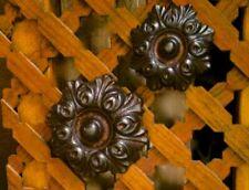 Eisen Beschlag für alte Haustür, Rosette, aufschraubbar Türbeschläge antik, 5 cm