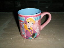 DISNEY MOVIE FROZEN ANNA WINTER PINK FULL WRAP RARE 14 OZ COFFEE MUG CUP HTF NEW