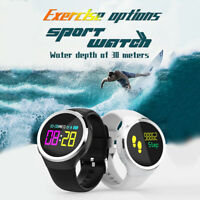 Wrist Waterproof Bluetooth Smart Watch Phone Mate For Android Samsung IOS iPhone