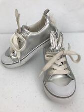 Silver Sneakers Toddler Girls Size 9 Bunny Rabbit Ears Gymboree Metallic