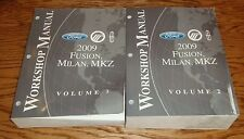 2009 Ford Fusion Milan MKZ Service Shop Manual Volume 1 & 2 Set 09