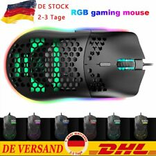 PC Gaming Race Model Gaming Maus USB Optisch Wired Mouse 1600DPI RGB Bunte DHL
