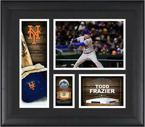 """Todd Frazier New York Mets Frmd 15"""" x 17"""" Player Collage with a Piece of GU Ball"""