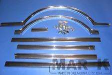 Chevrolet Chevy Suburban Lower Body Side Moulding Set Aluminum 1967-1968