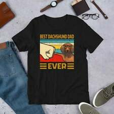 Best Dachshund Dad Ever Apparel Great Fathers Day Gift For Vintage T-Shirt. .