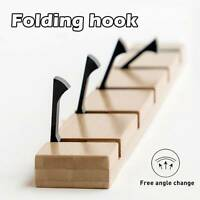 Folding Coat Rack Hook Hallway Bedroom Door Hat Clothes Hanger Kitchen Toilet
