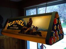 VTG Pool Table Light/lamp advertisement Camel Billiards Man Cave game room decor