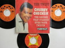 LOT OF 4 ' CHUBBY CHECKER ' HIT 45's+1PS [The Twist/ Twistin' U.S.A.]  THE 60's!