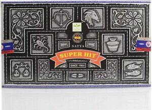 Original Satya Genuine SUPER HIT Incense Sticks Joss FULL BOX (12 x 15g Packs)