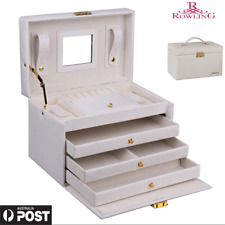 Jewellery Storage Box Girls Rings Watches Case Necklaces Display Organizer Gifts