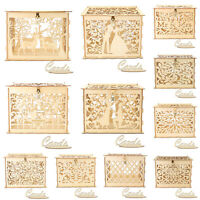 Wood Gift Card Case Box DIY Wedding Birthday Party Cards Holder Container #1~11