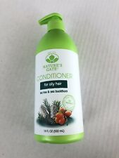 Natures Gate Tea Tree Conditioner For Oily Hair 18 FL OZ New With Pump FREE SHIP