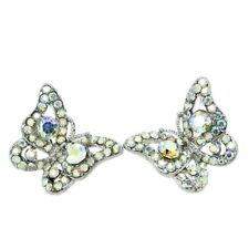 a1543972d Butterfly Earrings Made With Swarovski Crystal AB Love Cute New Jewelry